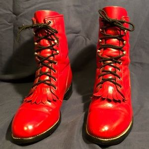 Justin Women's Red Boots